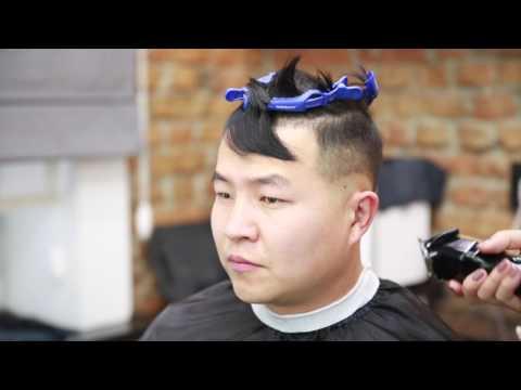 Мужская стрижка Undercut с пробором ||  saniyamakeup