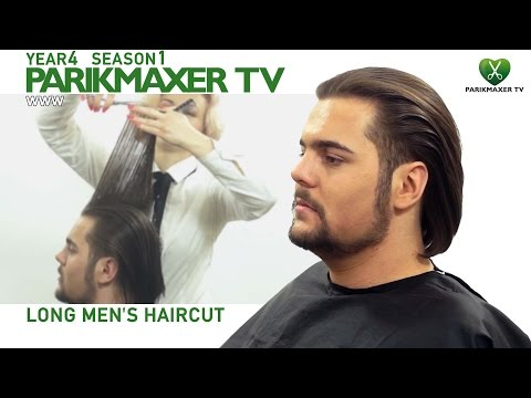 Мужская стрижка на длинных волосах. Long Men's Haircut парикмахер тв parikmaxer.tv