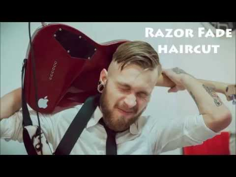 Мужская стрижка Mid fade side part. Mens haircut. Stop Motion.