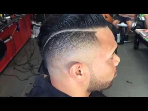 Fade slick back hairstyle Мужская стрижка
