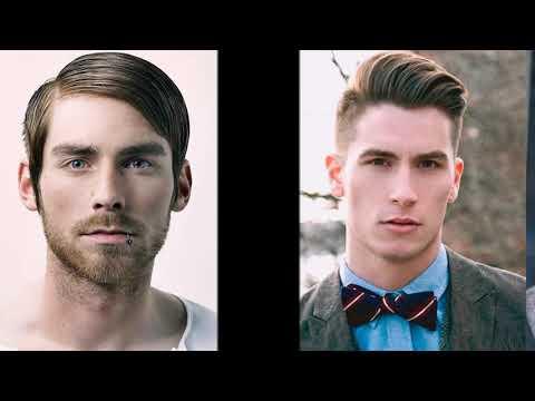Мужская прическа на бок модная в 2018