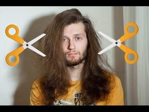 Мужская стрижка длинных волос Top Knot Stop Motion